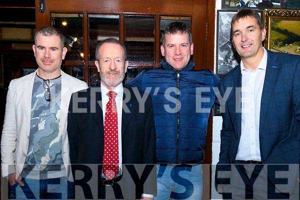 Sean Kelly with Killian Byrne, Dara Ó Cínnéide and Maurice Fitzgerald at the 1997 team reunion at Paidí Ó Sé pub in Ventry on Friday night.