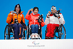 Momoka Muraoka (JPN), MARCH 15, 2018 - Alpine Skiing : <br /> Women's Giant Slalom Sitting Medal Ceremony<br /> at PyeongChang Medals Plaza<br /> during the PyeongChang 2018 Paralympics Winter Games in Pyeongchang, South Korea. <br /> (Photo by Yusuke Nakanishi/AFLO SPORT)