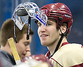 Patrick Wey (BC - 6) - The Boston College Eagles practiced on Friday, April 6, 2012, during the 2012 Frozen Four at the Tampa Bay Times Forum in Tampa, Florida.