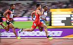 Bingtian Su (CHN) beats Chijindu Ujah (GBR) in the mens 100m heats. IAAF World athletics championships. London Olympic stadium. Queen Elizabeth Olympic park. Stratford. London. UK. 04/08/2017. ~ MANDATORY CREDIT Garry Bowden/SIPPA - NO UNAUTHORISED USE - +44 7837 394578