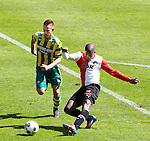 Nederland, Den Haag, 22 april 2012.Seizoen 2011/2012.Eredivisie.Ado Den Haag-Feyenoord.Guyon Fernandez van Feyenoord scoort de 0-2
