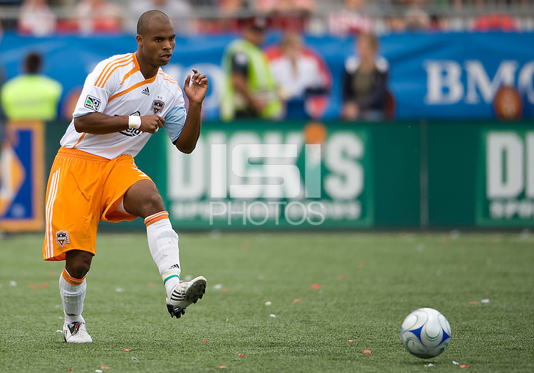 18 July 2009: Houston Dynamo defender Julius James #3 in action in a game between the Toronto FC and Houston Dynamo..The game ended in a 1-1 draw..