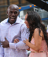 May 23, 2012 Donald Driver and Cheryl Burke of Dancing with the Stars at Good Morning America at Times Square in New York City. Credit: Roger Wong/MediaPunch Inc.