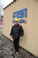 Roma 20 Febbraio 2012.I lavoratori della Rsi Italia SpA (Rail Service Italia, ex Wagons Lits), in Cassa Integrazione straordinaria da 6 mesi hanno occupato la fabbrica di via Umberto Partini a Roma. Sono 59 operai (33 metalmeccanici, 26 dei trasporti), addetti alla manutenzione dei Treni Notte..Massimo, operaio..Workers at the Rsi Italy SpA (Italy Rail Service, former Wagons Lits), extraordinary layoff from 6 months have occupied the factory in via Umberto Partini in Rome. We are 59 workers (33 metalworkers, 26 transport), Night Train maintenance workers. Rome, Italy 20th of February 2012