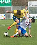 15.04.2018, 53acht Arena, Oldenburg, GER, Regionalliga Nord, SSV Jeddeloh vs Eintracht Braunschweig II (U23), im Bild<br /> Das Trikot ist gut..<br /> Marcel GOTTSCHLING  (SSV Jeddeloh #31 )<br /> Eros DACAJ(Eintracht Braunschweig II U23 #10)<br /> <br /> Foto &copy; nordphoto / Rojahn