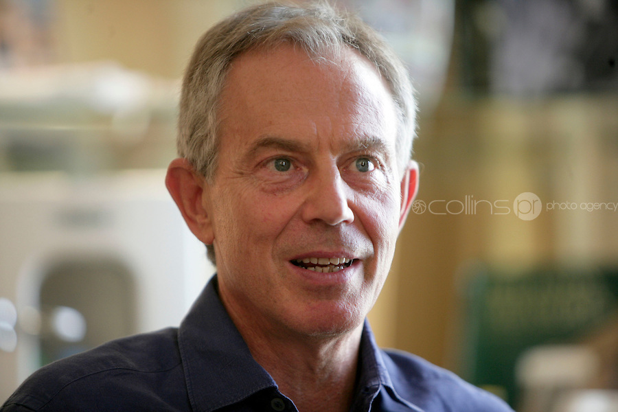 3/9/10 Tony Blair former Primeminister of Britain, in the Shelbourne Hotel, Dublin to promote his autobiography. Picture:Arthur Carron/Collins