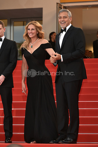 Julia Roberts and George Clooney at Money Monster screening during the 69th International Cannes Film Festival, France May 12, 2016.<br /> CAP/PL<br /> &copy;Phil Loftus/Capital Pictures /MediaPunch ***NORTH AND SOUTH AMERICA ONLY***