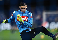 1st December 2019; Stadio San Paolo, Naples, Campania, Italy; Serie A Football, Napoli versus Bologna; Goalkeeper Alex Meret warms up - Editorial Use