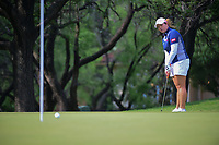 Ariya Jutanugarn (THA) chips on to 2 during round 3 of  the Volunteers of America Texas Shootout Presented by JTBC, at the Las Colinas Country Club in Irving, Texas, USA. 4/29/2017.<br /> Picture: Golffile | Ken Murray<br /> <br /> <br /> All photo usage must carry mandatory copyright credit (&copy; Golffile | Ken Murray)