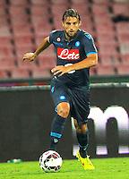Adriano Henrique   durante l'incontro  di calco d Seriden A  tra SSC Napoli e US Palermo    allo stadio San Paolo di Napoli , 24 Settembre  2014