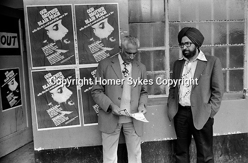 Blair Peach funeral and lying in state. Southall west London 1979.