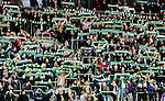 Stockholm 2015-02-16 Fotboll Tr&auml;ningsmatch Hammarby IF - LA Galaxy :  <br /> Hammarbys supportrar med halsdukar inf&ouml;r matchen mellan Hammarby IF och LA Galaxy <br /> (Foto: Kenta J&ouml;nsson) Nyckelord:  Fotboll Tr&auml;ningsmatch Tele2 Arena Hammarby HIF Bajen Los Angeles LA Galaxy supporter fans publik supporters