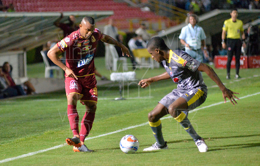 IBAGUÉ - COLOMBIA, 30-05-2018:Acción de juego entre los equipos   Deportes Tolima  y el Independiente Medellín durante partido semifinal ida de la Liga Águila I 2018 jugado en el estadio Manuel Murillo Toro de la ciudad de Ibagué. / Action game between Deportes Tolima and  Independiente Medellin   during firts match semifinal for the  Aguila League I 2018 played at Manuel Murillo Toro in Ibague city. VizzorImage / Juan Carlos Escobar / Cont