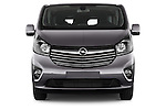 Car photography straight front view of a 2015 Opel Vivaro Sportive 4 Door Combi 2WD Front View