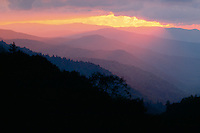 Oconaluftee River Valley at sunrise<br />