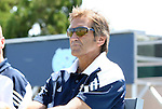 28 August 2011: Notre Dame head coach Randy Waldrum. The Duke University Blue Devils defeated the Fighting Irish of Notre Dame 3-1 at Fetzer Field in Chapel Hill, North Carolina in an NCAA Women's Soccer game.
