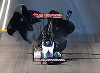Feb 27, 2016; Chandler, AZ, USA; NHRA top fuel driver Steve Torrence during qualifying for the Carquest Nationals at Wild Horse Pass Motorsports Park. Mandatory Credit: Mark J. Rebilas-USA TODAY Sports