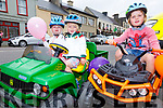 Taking poart in the Mini Motor Parade at the Cahersiveen Festival on Sunday were l-r; Maisie Donovan, Finn Murphy & Reece Donovan.