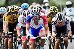 The chase group including Thibaut Pinot (FRA) Goupama-FDJ during Stage 5 of Criterium du Dauphine 2020, running 153.5km from Megeve to Megeve, France. 16th August 2020.<br /> Picture: ASO/Alex Broadway | Cyclefile<br /> All photos usage must carry mandatory copyright credit (© Cyclefile | ASO/Alex Broadway)