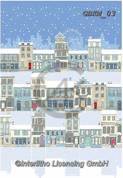 Kate, CHRISTMAS LANDSCAPES, WEIHNACHTEN WINTERLANDSCHAFTEN, NAVIDAD PAISAJES DE INVIERNO, paintings+++++London in the snow 2,GBKM03,#XL#