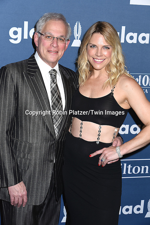 Adam Levin and Heather McDowell attends the 27th Annual GLAAD Media Awards on May 14, 2016 at the Waldorf Astoria Hotel in New York City, New York, USA.<br /> <br /> photo by Robin Platzer/Twin Images<br />  <br /> phone number 212-935-0770