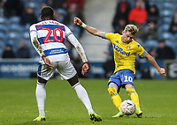Leeds United's Ezgjan&nbsp;Alioski competing with Queens Park Rangers' Bright Osayi-Samuel<br /> <br /> Photographer Andrew Kearns/CameraSport<br /> <br /> The Emirates FA Cup Third Round - Queens Park Rangers v Leeds United - Sunday 6th January 2019 - Loftus Road - London<br />  <br /> World Copyright &copy; 2019 CameraSport. All rights reserved. 43 Linden Ave. Countesthorpe. Leicester. England. LE8 5PG - Tel: +44 (0) 116 277 4147 - admin@camerasport.com - www.camerasport.com