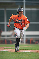 Baltimore Orioles TJ Olesczuk (76) during a minor league Spring Training intrasquad game on April 2, 2016 at Buck O'Neil Complex in Sarasota, Florida.  (Mike Janes/Four Seam Images)