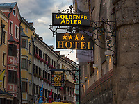 Hotel  Goldener Adler,  Herzog-Friedrich-Stra&szlig;e, Innsbruck, Tirol, &Ouml;sterreich, Europa<br /> Hotel Goldener Adler, Herzog-Friedrich St., Innsbruck, Tyrol, Austria, Europe