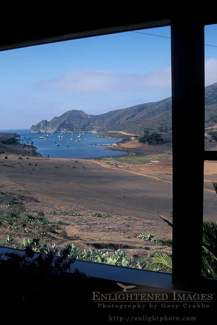 Looking toward Catalina Harbor fron the Banning House Lodge, Two Harbors, Catalina Island, California