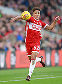 5th November 2017, Riverside Stadium, Middlesbrough, England; EFL Championship football, Middlesbrough versus Sunderland; Marcus Tavernier of Middlesbrough controls the ball with his arm in the first half