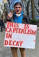 MAR 22 Facist Protestor in NYC's Union Square Park