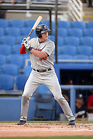 Brevard County Manatees first baseman Garrett Cooper (30) at bat during a game against the Dunedin Blue Jays on April 23, 2015 at Florida Auto Exchange Stadium in Dunedin, Florida.  Brevard County defeated Dunedin 10-6.  (Mike Janes/Four Seam Images)
