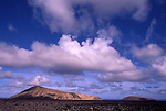 Europe, ESP, Spain, Canary Islands, Lanzarote, National park Timanfaya, Cumulus clouds, Volcanic Landscape....[ For each utilisation of my images my General Terms and Conditions are mandatory. Usage only against use message and proof. Download of my General Terms and Conditions under http://www.image-box.com or ask for sending. A clearance before usage is necessary...Material is subject to royalties. Each utilisation of my images is subject to a fee in accordance to the present valid MFM-List...Contact | archive@image-box.com | www.image-box.com ]