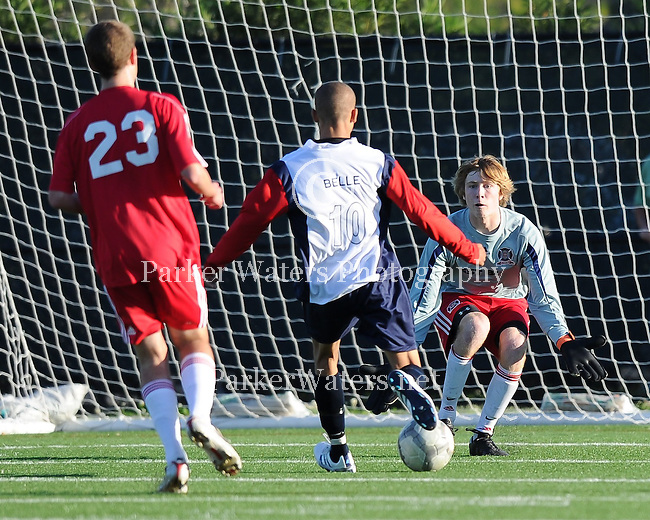 The Chicago Fire Juniors of Louisiana(U17B-Red) battle the Barnsley Futbol Club from Durban, South Africa in an exhibition match held at Pan American Stadium in New Orleans.  Images are from the first half of play as the Fire went on to defeat Barnsley by a score of 4-2.