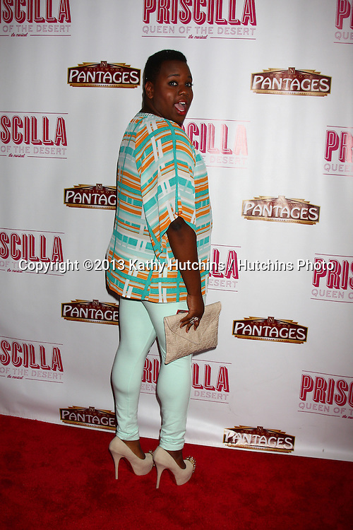 "LOS ANGELES - MAY 29:  Alex Newell arrives at  the ""Priscilla Queen of the Desert"" Play Opening at the Pantages Theater on May 29, 2013 in Los Angeles, CA"