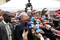 BOGOTA -COLOMBIA. 15-06-2014. Alvaro Uribe. Elecciones para presidente de la Republica de Colombia segunda vuelta periodos 2014-2018.   /   Elections for President of the Republic of Colombia from 2014 to 2018 periods. Photo: VizzorImage/ Felipe Caicedo