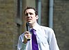 Vauxhall Hustings at St Mark's Church, Kennington, London, Great Britain <br /> 27th May 2017 <br /> <br /> <br /> Pirate party candidate <br /> Mark Chapman Vauxhall Outdoor Hustings at St. Mark's Church, 337 Kennington Park Road, London SE11 4PW. A General Election hustings for the Vauxhall constituency has been called by Steve Coulson, the Vicar of St. Mark&rsquo;s Kennington, and Chair of the Friends of St. Mark&rsquo;s Churchyard. The outdoor event will take place at St Mark&rsquo;s on 18 April as part of the popular Oval Farmer&rsquo;s Market.