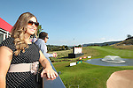 ISPS Handa Wales Open<br /> Guests enjoying the golf from the Waitrose marquee balcony alongside the 18th green on the Twenty Ten course.<br /> Celtic Manor Resort<br /> 21.09.14<br /> &copy;Steve Pope-SPORTINGWALES