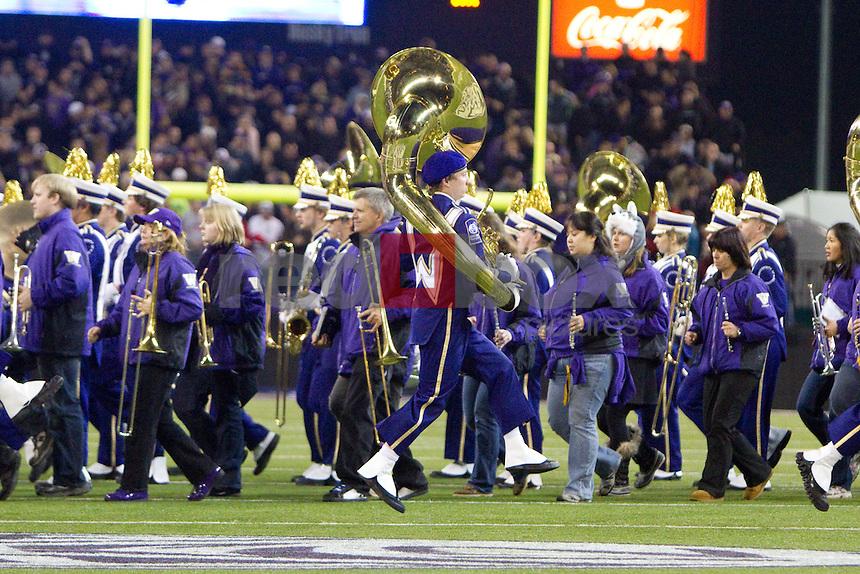 Band, The University of Washington Huskies beat the University of Arizona 42-31 at Husky Stadium in Seattle, Wash. on Saturday October 29, 2011.(Photography By Scott Eklund/Red Box Pictures)