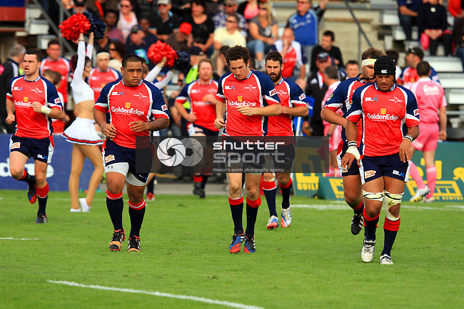 Tasman Makos vs Manawatu Turbos  ITM Cup match held at Lansdowne Park, Blenheim 13th October 2013. Final Score 57-14 to Tasman  Photo Gavin Hadfield / Shuttersport