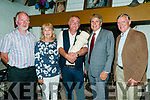 Ballad competition : Winners of the Sean McCarthy Ballad competition as part of the Sean McCarthy Memorial Weekend in Finuge  on Saturday night last were Sean Dillon, Ballybunion, 3rd, Sue Nilsson, sponsor, winner Pete Gilroy, Galway, Mike Nilsson, sponsor & John Kinsella, Listowel , 2nd.