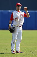 March 23, 2010:  Outfielder Zach Hurley of the Ohio State University Buckeyes during a game at the Chain of Lakes Stadium in Winter Haven, FL.  Photo By Mike Janes/Four Seam Images