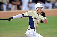 4 March 2012:  FIU outfielder Nathan Burns (6) hits late in the game as the FIU Golden Panthers defeated the Brown University Bears, 8-3, at University Park Stadium in Miami, Florida.