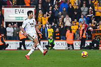 Raul Jimenez of Wolverhampton Wanderers scores from the spot to make the score 1-1i during AFC Bournemouth vs Wolverhampton Wanderers, Premier League Football at the Vitality Stadium on 23rd February 2019