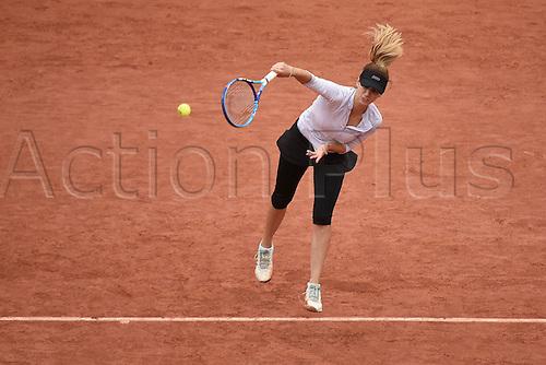 31.05.2016. Roalnd Garros, Paris, France. French Open tennis tournament.  Tsvetana Pironkova (BUL) beats Agnieszka Radwanska (POL) in 3 sets