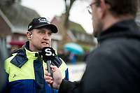 former World Champion, now Team Steylaerts-777 manager, Bart Wellens interviewed pre-race<br /> <br /> Jaarmarktcross Niel 2019 (BEL)<br /> <br /> ©kramon