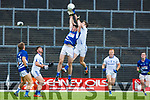 Shane McSweeney, Laune Rangers and Adrian Spillane, Templenoe contest the kick out during their IFC semi final in Fitzgerald Stadium on Saturday.