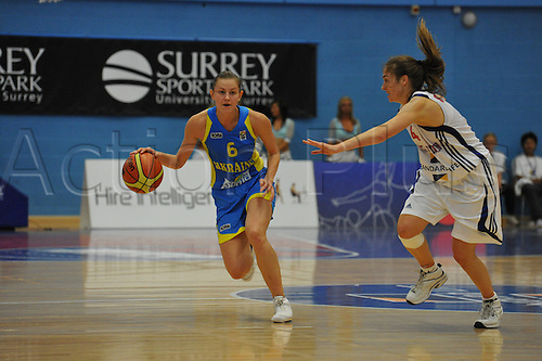20.08.2010 Tetyana Shchypakina (UKR)   in action during the Eurobasket Women 2011 Qualifiers   Division A Great Britain take the Ukraine at Surrey University