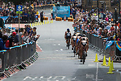 June 11th 2017, Leeds, Yorkshire, England; ITU World Triathlon Leeds 2017; The women compete in the cycling phase around Leeds city centre