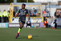 Marc Bola of Bristol Rovers (on loan from Arsenal) on the ball during the Sky Bet League 1 match between AFC Wimbledon and Bristol Rovers at the Cherry Red Records Stadium, Kingston, England on 17 February 2018. Photo by Carlton Myrie.